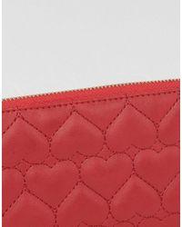 Yoki Fashion - Red Yoki Quilted Zip Around Purse - Lyst