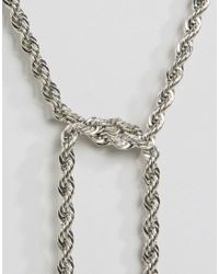 Missguided - Metallic Rope Chain Necklace - Lyst