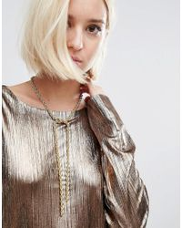 Missguided Metallic Rope Chain Necklace