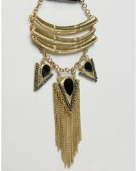 Raga - Metallic Arrows With Fringe Necklace - Lyst