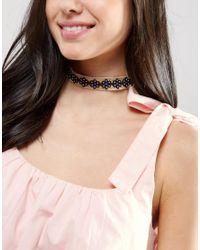 ASOS   Brown Raffia Flower Choker Necklace   Lyst