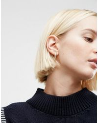 ASOS | Metallic Pack Of 2 15mm Hoop Earrings | Lyst