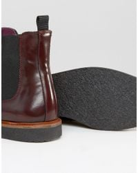 House Of Hounds | Red Chelsea Boots With Brogue Detail for Men | Lyst