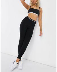 Черные Леггинсы -черный Calvin Klein, цвет: Black