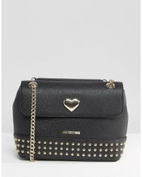 Love Moschino - Chain Strap Shoulder Bag - Black - Lyst