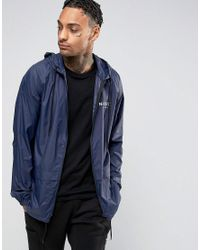 Nicce London | Blue Windbreaker Jacket for Men | Lyst