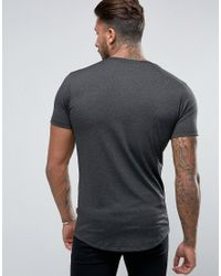 Nicce London Black Polytech T-shirt In Charcoal for men