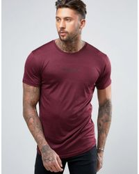 Nicce London Red Polytech T-shirt In Burgundy for men