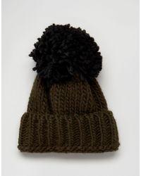 Helene Berman Natural Oversized Beanie Hat