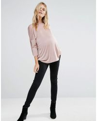 Bluebelle Maternity Pink Top With Wrap Back