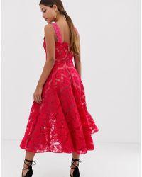 Bronx & Banco - Britney - Robe mi-longue en dentelle Bronx and Banco en coloris Pink