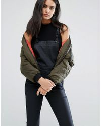 G-Star RAW   Green Bomber Jacket With Zip Pocket Detail   Lyst