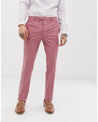 Twisted Tailor Super Skinny Suit Pants In Dusky Pink for men