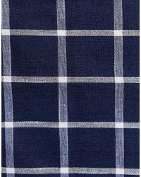 Pochette à grands carreaux - Bleu marine Noak pour homme en coloris Blue