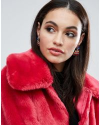 ASOS | Multicolor Statement Rainbow Stud Earrings | Lyst
