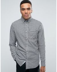 Jack & Jones   White Originals Gingham Shirt With Button Down Collar In Slim Fit for Men   Lyst
