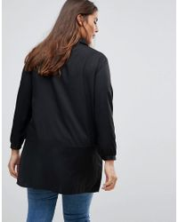 Rage Black Longline Blouse With Embroidery
