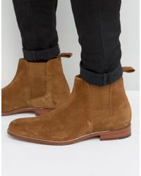 GRENSON - Brown Declan Suede Chelsea Boots for Men - Lyst