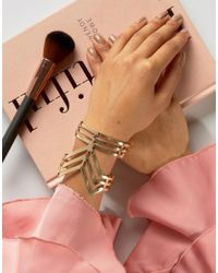 Ruby Rocks - Metallic Structured Cuff Bracelet - Lyst