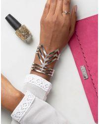 Ruby Rocks - Metallic Structured Cuff Bracelet - Lyst