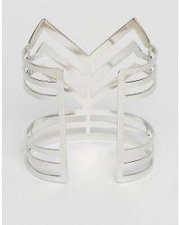 Ruby Rocks | Metallic Structured Cuff Bracelet | Lyst