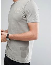 Jack & Jones Natural Vintage T-shirt With Patches for men