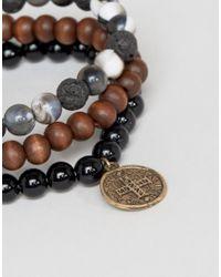 ASOS - Metallic Beaded Bracelet & Ring Pack - Lyst