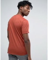 Only & Sons Red T-shirt In Organic Cotton for men