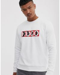 X Liam Payne - Sweat à chevrons avec logo HUGO pour homme en coloris White