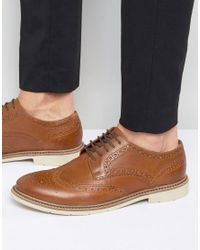 Tommy Hilfiger | Brown Metro Leather Brogues for Men | Lyst