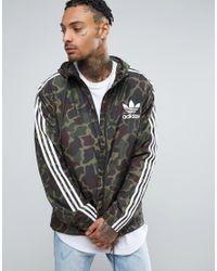 5aec85febd528 adidas Originals Windbreaker Jacket In Camo Bj9997 in Green for Men ...