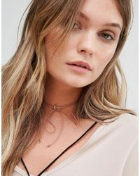 Rock N Rose - Metallic Rock N Rose Wrap Around Choker With Initial L - Lyst