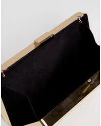 Liquorish Multicolor Gold Marble Clutch Bag