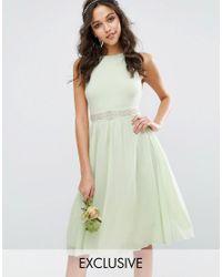 TFNC London | Green Wedding Embellished Midi Dress With Full Skirt | Lyst
