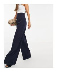 Vesper Blue High Waisted Tailored Pant