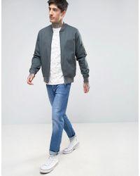 Farah White Bradshaw T-shirt Allover Print Slim Fit In Ecru for men