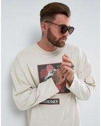 ASOS Brown Oversized Round Sunglasses In Tort for men
