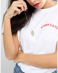 Orelia - Metallic Long Pendant Necklace - Lyst