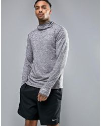 Nike | Gray Dri-fit Element Hoodie In Grey 803877-021 for Men | Lyst