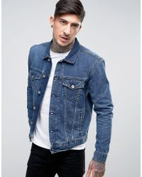 Edwin   Blue High Road Denim Jacket Mid Sleet Wash for Men   Lyst