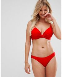 Wolf & Whistle Mix & Match Red Super Push Up Bikini Top A-g Cup