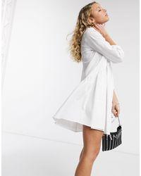 Белое Поплиновое Платье-рубашка -белый ONLY, цвет: White