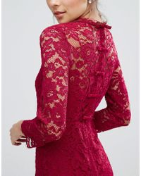Coast Red Cassia Lace Bodycon Dress