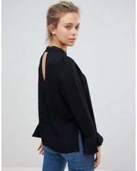ONLY Black Johnanna Fluted Sleeve Blouse
