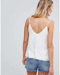 ASOS White Fuller Bust Swing Cami With Double Layer