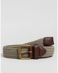 New Look Green Woven Belt In Khaki for men