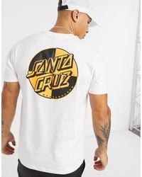 Crash Dot - T-shirt bianca di Santa Cruz in White da Uomo