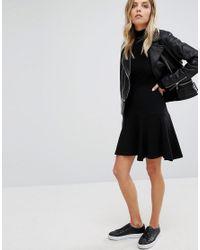 Whistles Black Opal Jersey Flippy Skirt