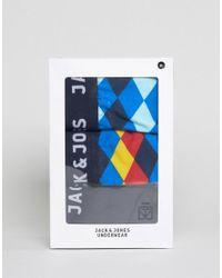Jack & Jones - Blue Trunks 3 Pack Pattern for Men - Lyst
