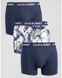 Jack & Jones | Blue Trunks 3 Pack for Men | Lyst
